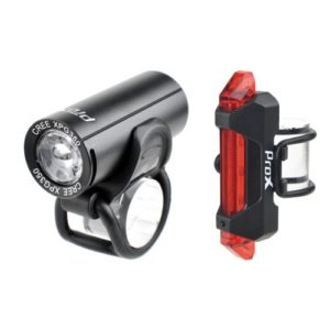 Light set ProX Pictor CREE 350Lm + 10Lm USB black