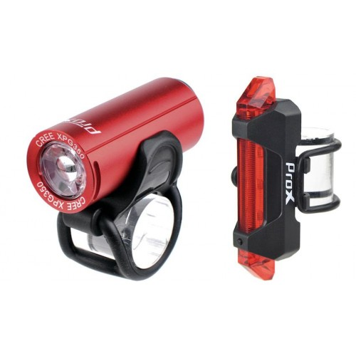 Light set ProX Pictor CREE 350Lm + 10Lm USB red