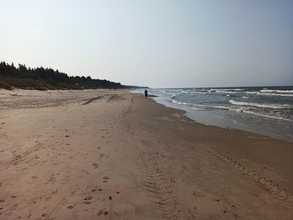Well packed sand coast near Palanga