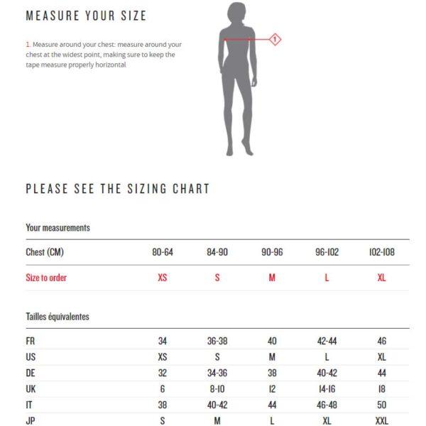 Millet size chart women